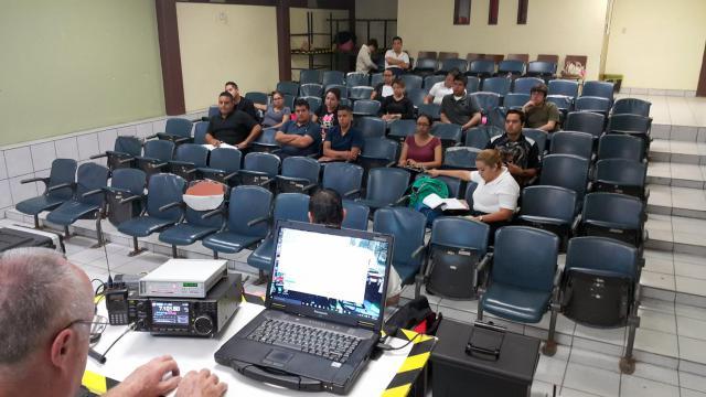 Winlink demo and Emcomm awareness to Rescue Academy in Baja