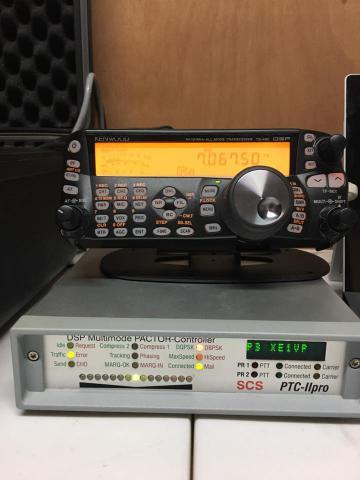 The comm van's Radio and Pactor modem