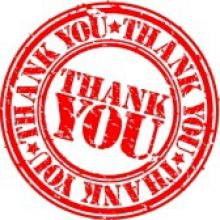 Thank-you graphic